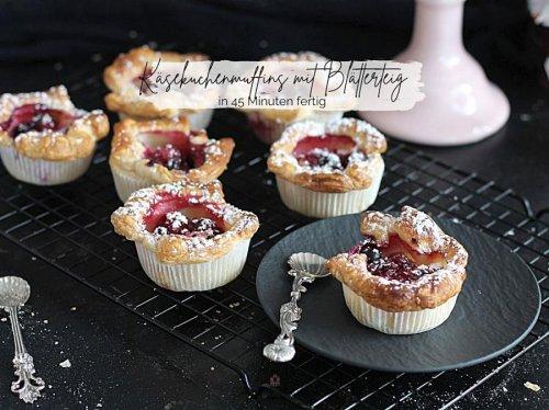 Schnelle Käsekuchenmuffins mit Blätterteig & Beeren - fertig in 45 Minuten « Castlemaker Food & Lifestyle Magazin