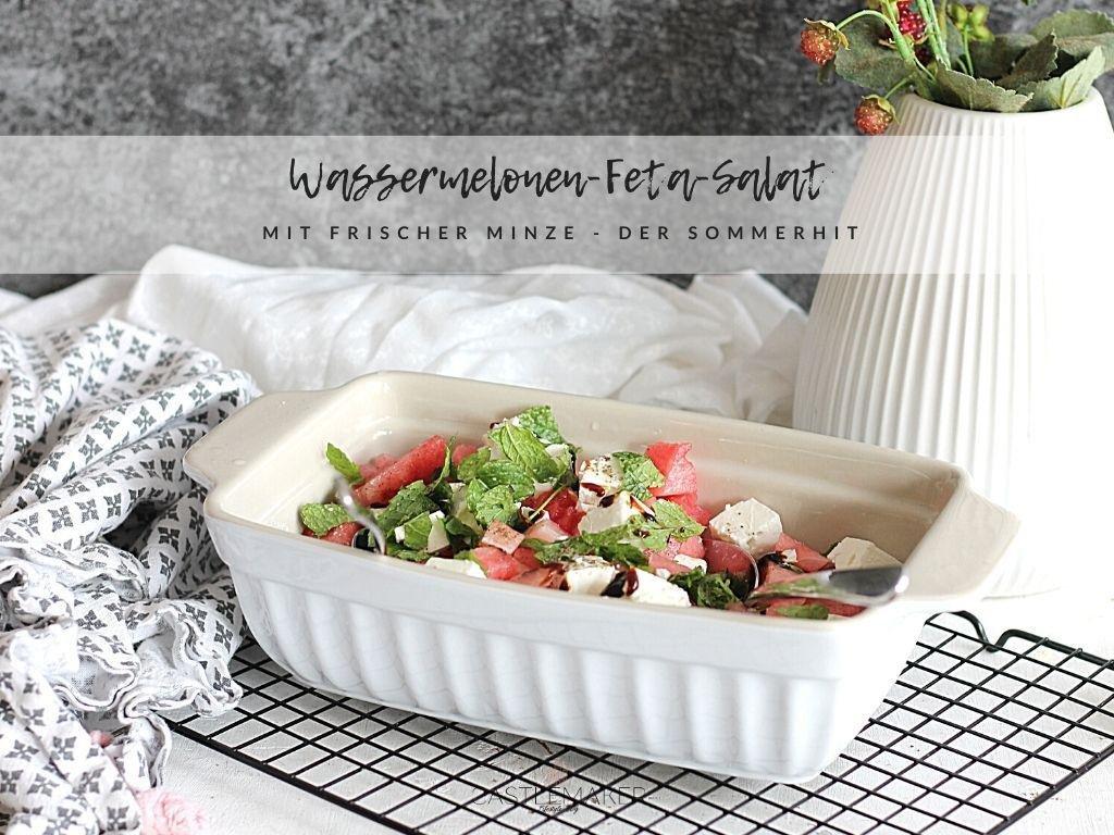Melonen-Feta-Salat mit Minze – der erfrischende Partysalat als Sommerhit