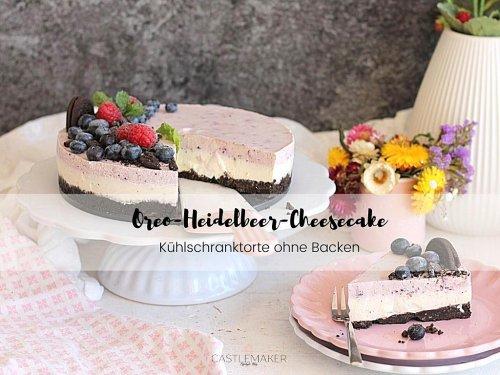 Super leckerer Oreo Cheesecake mit Heidelbeeren – ohne Backen