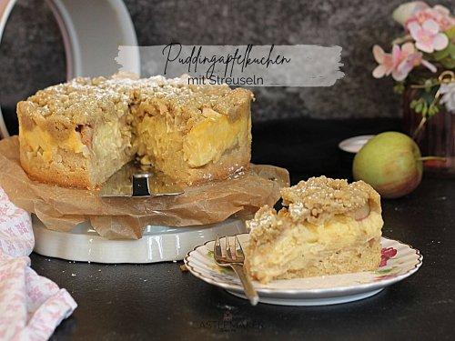 Cremiger Apfelkuchen mit Pudding & Streuseln - Puddingapfelkuchen Rezept « Castlemaker Food & Lifestyle Magazin