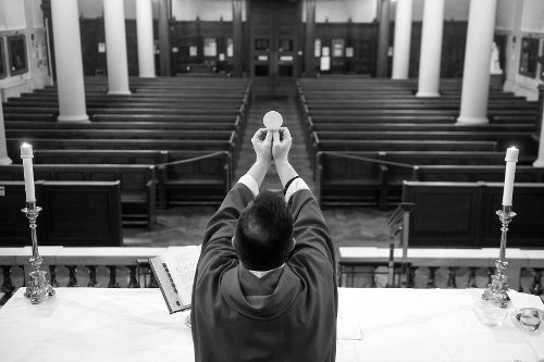 The pandemic has hit Catholic parishes hard. It's also taken a toll on priests