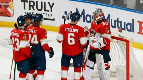 Knight time: Panthers ride rookie goalie to push back Lighting, stave off elimination   CBC Sports