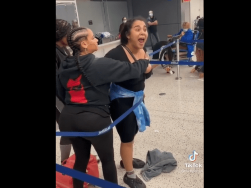 After waiting in line for 5 hours JetBlue passengers try a racist tirade to see if that improves things