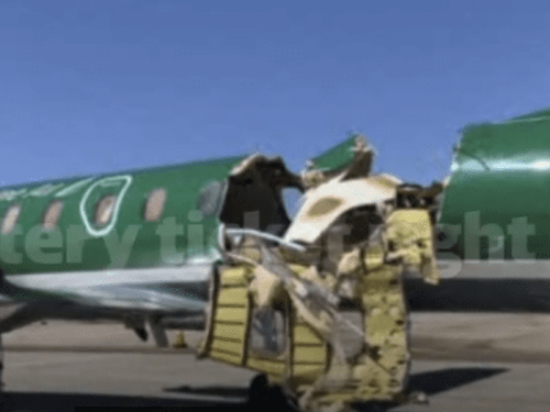 Shocking Images: Plane collision above Denver, yet no injuries