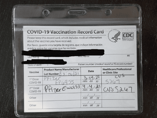 Safeguard your CDC Vaccination Card for Travel with this Plastic Travel Protector