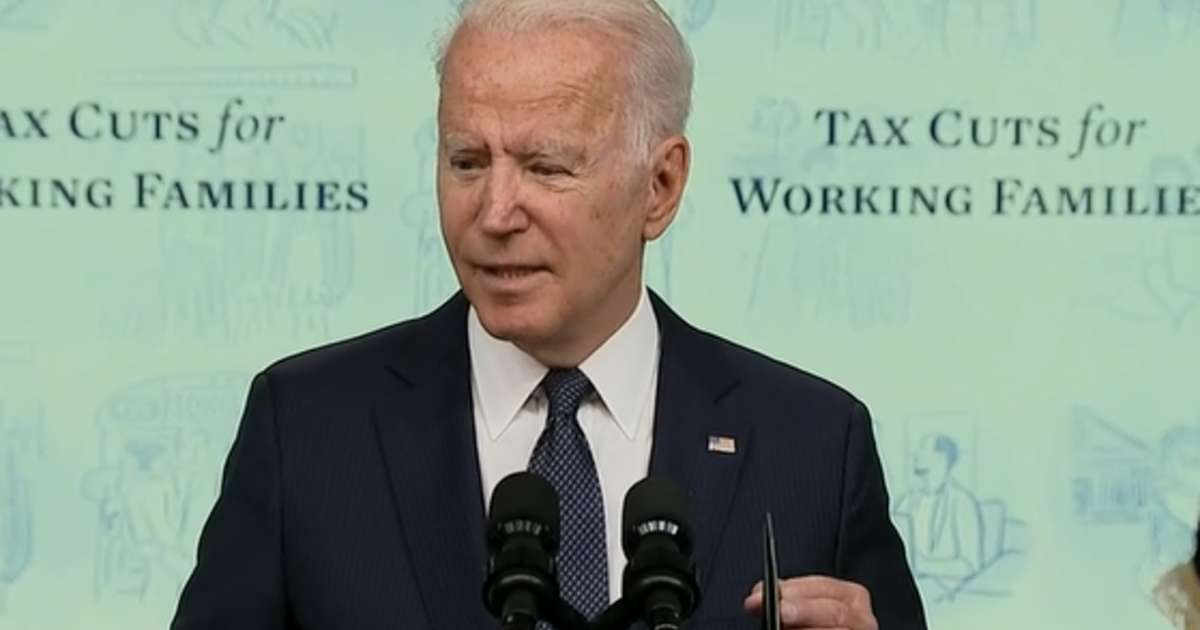 """Biden celebrates """"life-changing"""" monthly Child Tax Credit payments as first checks go out"""