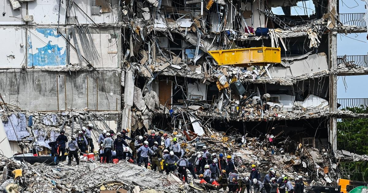 Search in Florida condo building collapse stretches into sixth day