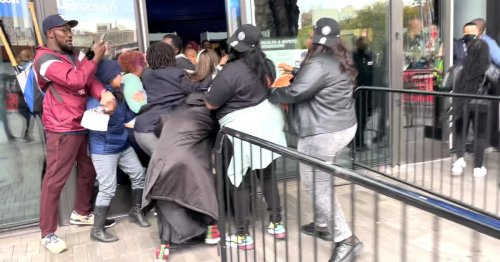 Protesters storm arena entrance before Brooklyn Nets home opener over team's refusal to let unvaccinated star Kyrie Irving play