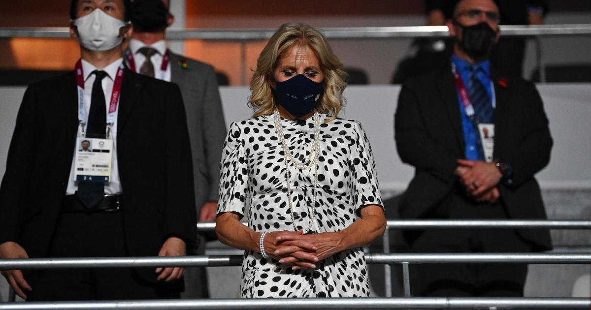 First lady Jill Biden participates in Olympics opening ceremony