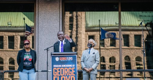 """""""Convicting Chauvin is not enough"""": Leaders urge reform at rally marking 1 year since George Floyd's death"""
