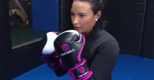 "Demi Lovato on ""CBS Sunday Morning"" in 2018"