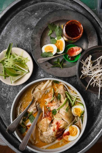This Soul-Warming Indonesian Laksa Marries Curry Paste, Noodles & Tender Chicken