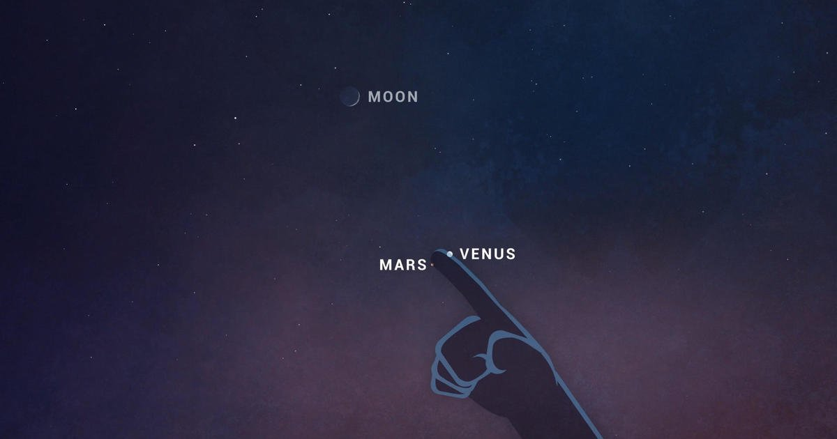 How to watch Venus and Mars align in a unique planetary conjunction tonight