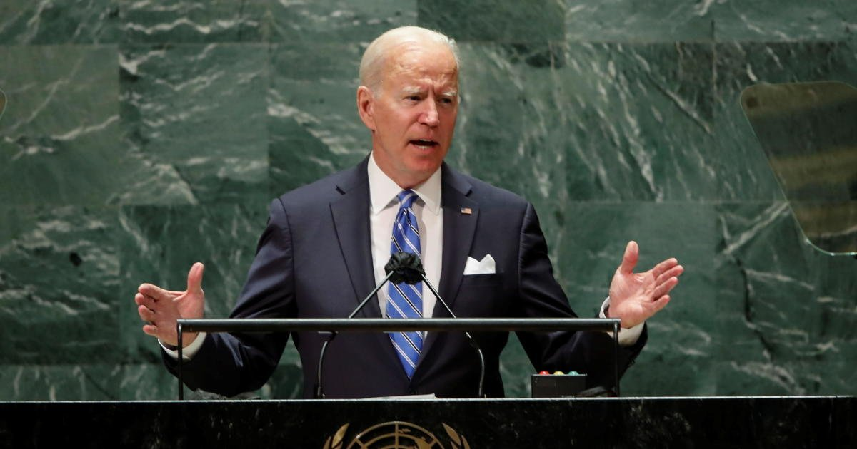 """Biden says the world stands at an """"inflection point"""" in first address to U.N."""