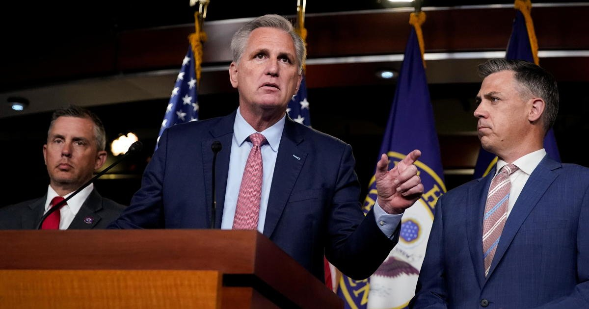 """McCarthy derides Kinzinger and Cheney as """"Pelosi Republicans"""""""