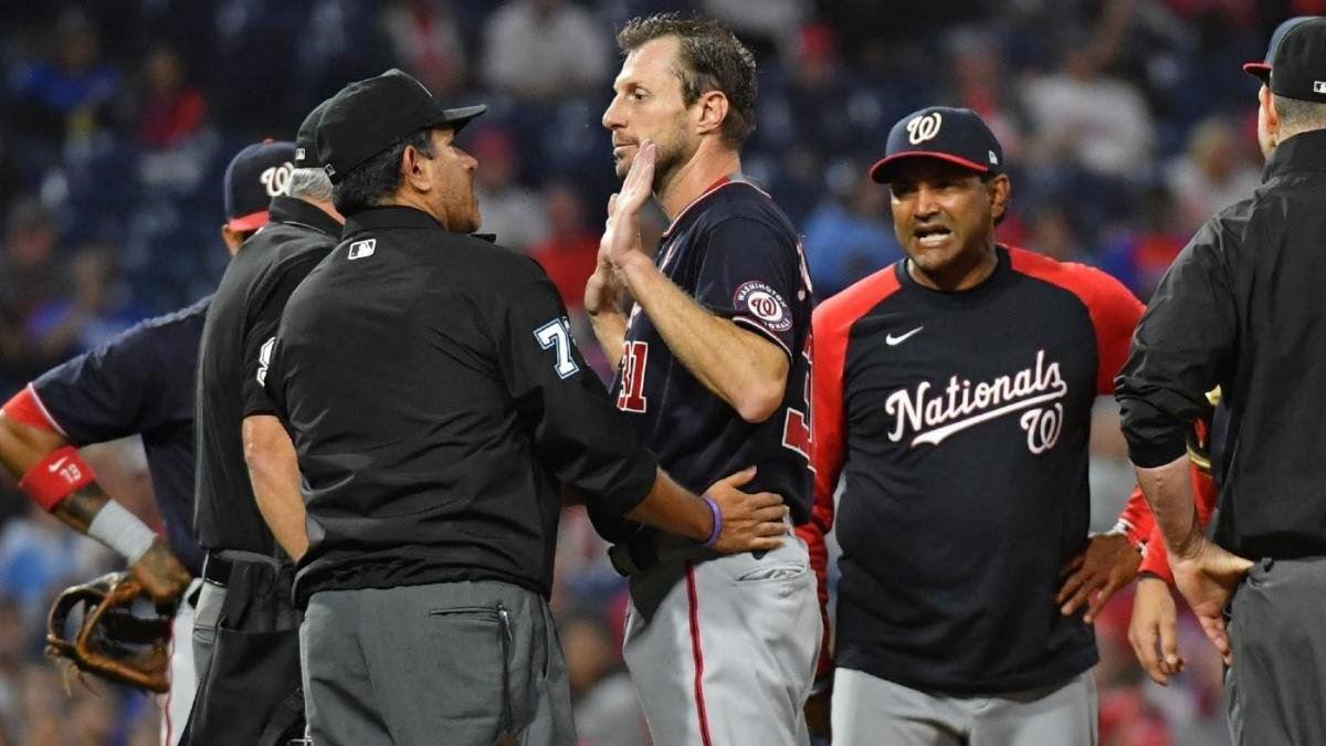 Phillies' Joe Girardi ejected after repeated spats with Nationals, Max Scherzer over foreign substance check