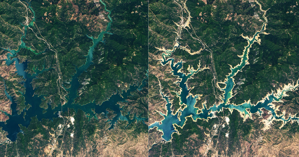 NASA before-and-after photos from space show devastating effects of California's record mega-drought