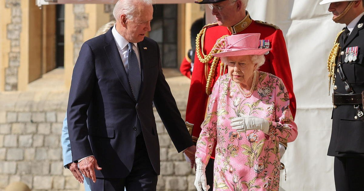 Bidens meet Queen Elizabeth for tea at Windsor Castle after G-7 summit