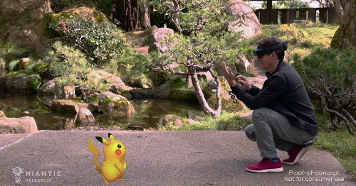Niantic is testing Pokemon Go on HoloLens 2 to let you play with friends remotely