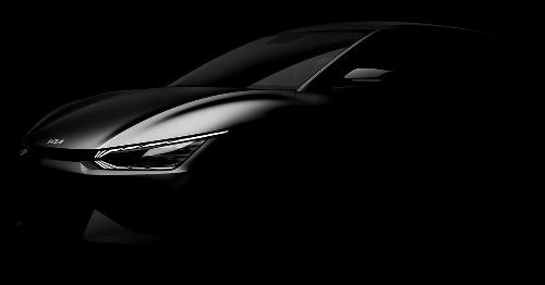 2022 Kia EV6 electric crossover teased with sleek looks and flush door handles