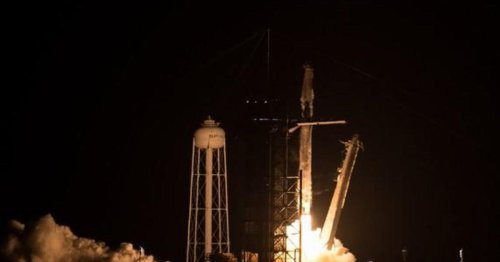 SpaceX launches four astronauts on Crew Dragon flight to space station