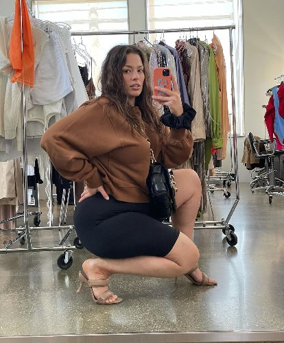 Ashley Graham styles the bike shorts trend for 2021