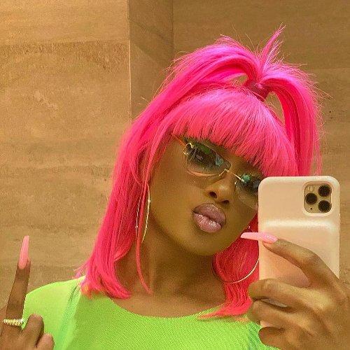 Megan Thee Stallion Stuns With a Neon Pink Bob