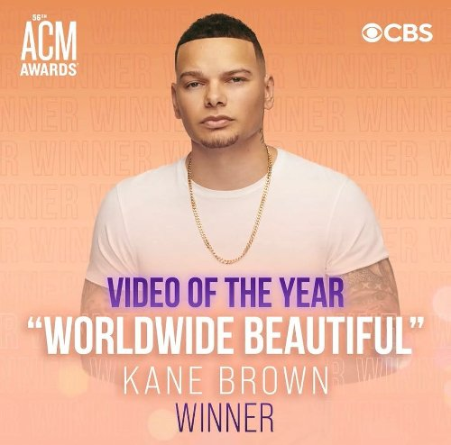 Kane Brown Wins His First ACM Award For Video of the Year