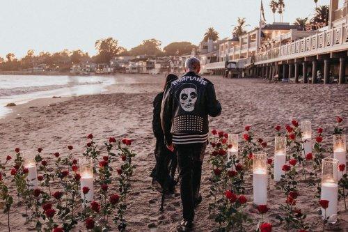 Kourtney Kardashian Shares Intimate Photos of Travis Barker's Proposal