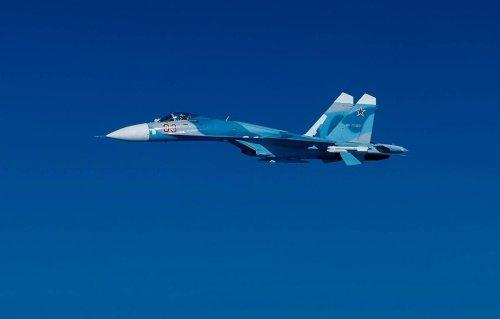 Russian Su-27 fighter intercepts three French military planes over Black Sea