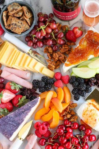 The BEST Fruit and Cheese Board - Celebrating Sweets
