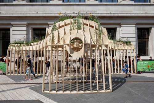 Exhibition Road installations start eco conversations with wind power and algae   Design Week