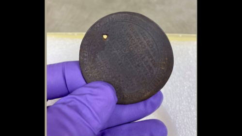 1691 coin mysteriously found at Underground Railroad site. Was it a good luck charm?