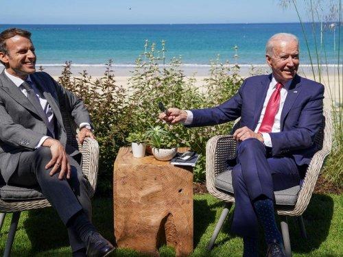 """G7: Macron se réjouit auprès de Biden du """"retour"""" des Etats-Unis"""