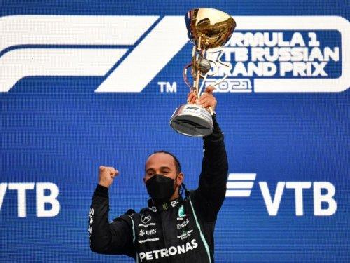F1: Hamilton remporte sa 100e victoire en Russie et reprend la tête du championnat - Challenges