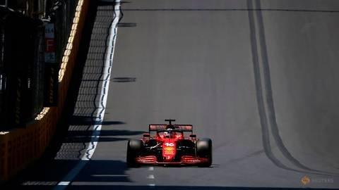 Motor racing-Leclerc on pole in Baku after crash-hit qualifying
