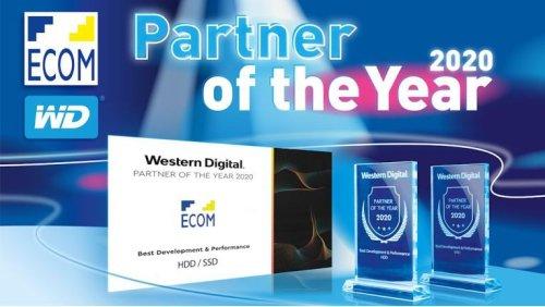 """""""Partner Of The Year 2020"""": Ecom von Western Digital doppelt geehrt"""