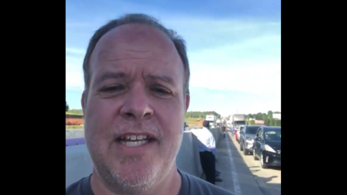 'Tired, stressed and hungry': How a NC man and others spent 7 hours stuck on I-85