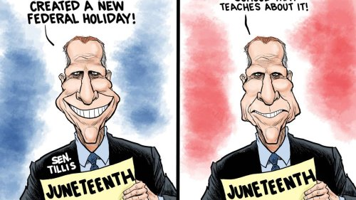 Kevin Siers cartoon: Politics never takes a holiday