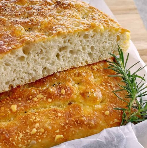 Overnight Focaccia with Parmesan - Easy No Knead Recipe · Chef Not Required...