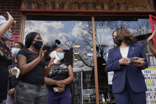 Kamala Harris visited beloved Brown Sugar Bakery on Chicago's South Side on Tuesday. She couldn't have chosen better.