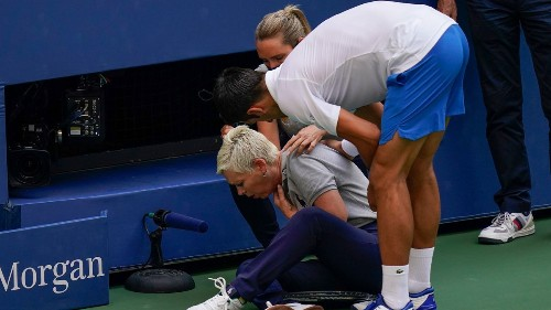 No. 1 seed Novak Djokovic out of the U.S. Open after hitting a line judge with a tennis ball: 'I'm extremely sorry to have caused her such stress'