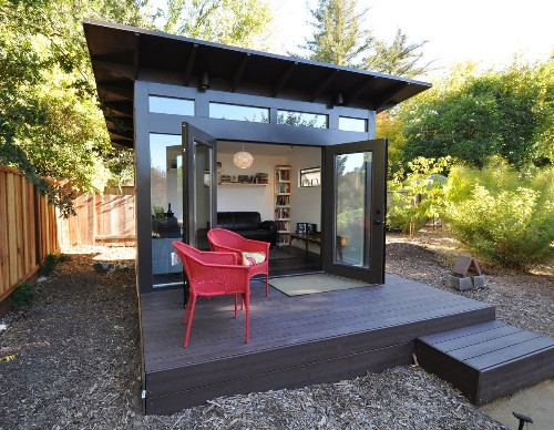 Dreaming of a better work-from-home space? Try a tiny backyard office.