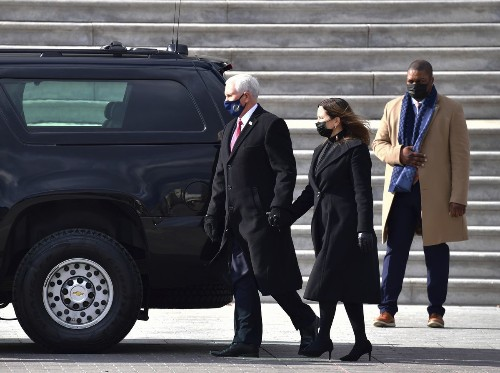 'Grateful' Mike Pence returns to Indiana hometown as vice presidency ends