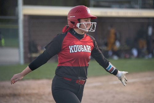 Mary Kate Shultz homers and drives in three runs as Kankakee Valley scores 11 in the final three innings against Hobart. She got the win too.
