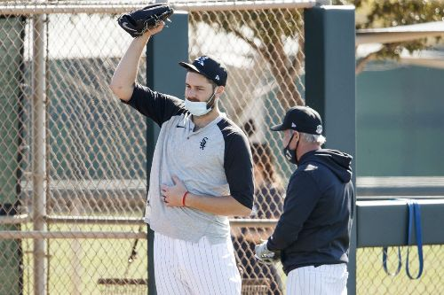 What's happening at Chicago White Sox camp today, including Lucas Giolito throwing live batting practice