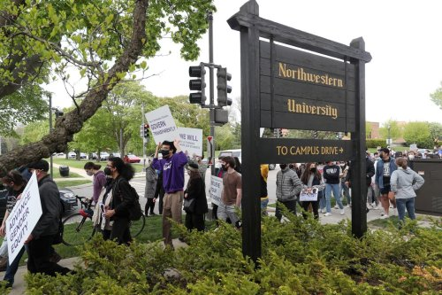 Northwestern students, faculty protest AD hiring