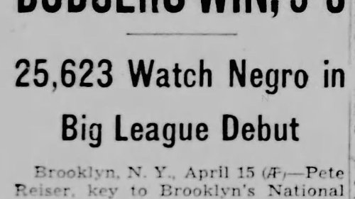 This day in history, April 15: Jackie Robinson, baseball's first Black major league player, makes his official debut with the Brooklyn Dodgers