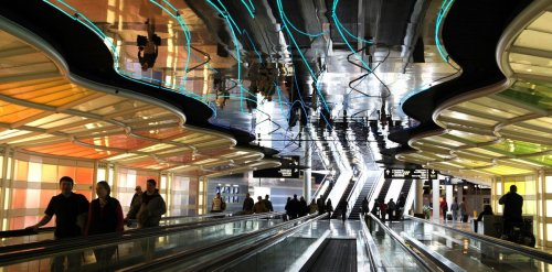 Electrial issue possible cause for fire in O'Hare walkway famous for bright colored lights