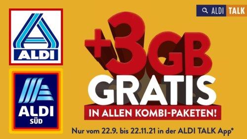 Aldi erhöht Ihr Datenvolumen: 3 GB gratis on top für Aldi Talk-Kunden